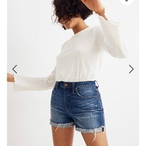 Madewell Curvy High - Rise Denim Shorts